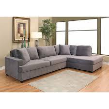 Grey Velvet Sectional Sofa Abbyson Living Vista Grey Velvet Fabric Sectional Sofa Our New
