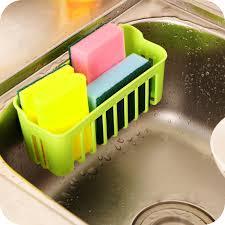 new plastic storage basket with 2 sucker kitchen tools organizer