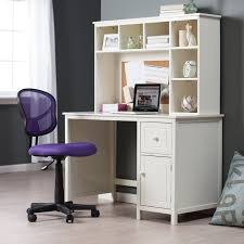 stylish purple girls computer chair feat small white writing desk
