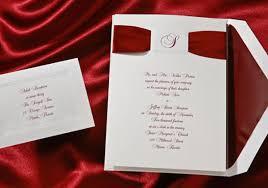 Wedding Invitations With Ribbon Burgundy Wedding Invitations Ribbon Top Center Initial