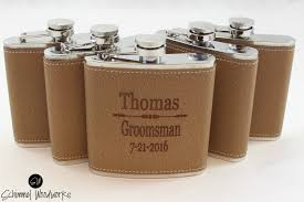 Best Man Gifts Groomsmen Gift Leather Flask Gift Personalized Flask Best