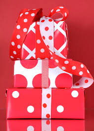 polka dot gift boxes stack of bright modern and white polka dot and check gift