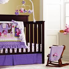 Owls Crib Bedding 8pieces Cotton Baby Crib Bedding Set Quality Purple Owl Newborn