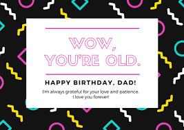 black pink white dad birthday card templates by canva