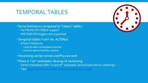 sql 2016 temporal table sql server 2016 temporal tables
