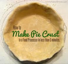Keeping Pumpkin Pie Crust Getting Soggy by 5 Minute Homemade Pie Crust Food Processor Recipe