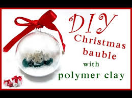 diy christmas tree ornament bauble polymer clay tutorial youtube