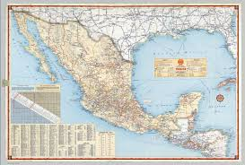 Highway Map Shell Highway Map Of Mexico David Rumsey Historical Map Collection