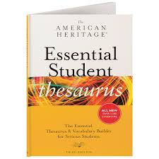 thesaurus confirmation the american heritage essential student thesaurus at daedalus books