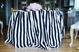 Black And White Table Cloth How To Make A Skirted Tablecloth The Lazy U0027s Guide Life In