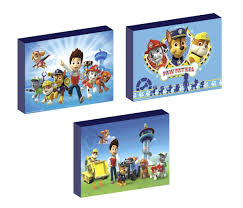 paw patrol bedroom bundle lampshade lamp canvas pictures