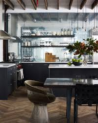 lovely mirrored kitchen backsplash remodeling ideas with exposed