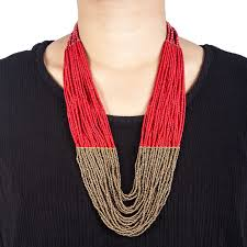 red necklace online images Buy pote store 39 s red sangam pote haar necklace online at best jpg