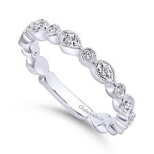 stackable diamond rings 14k white gold pear shaped stackable diamond ring mullen jewelers