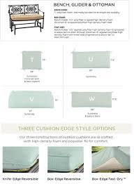 bench glider and ottoman cushions ballard designs
