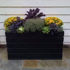 small modern hanging planter box for decks or balcony with top