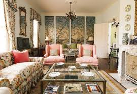 asian living room design with wall arts and mirror and floral