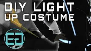 Halloween Light Up Costumes Diy Grid Halloween Costume How To Video Ellumiglow Com Youtube