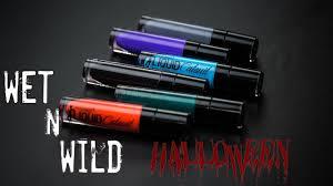 wet n wild halloween new limited edition wet n wild halloween liquid lipsticks try on