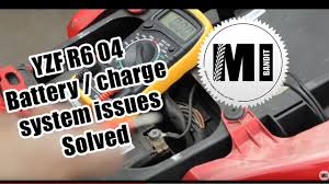 part 1 yamaha yzf r6 2004 motorcycle battery charge system
