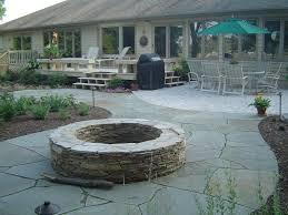 backyard stone fire pit outdoor patio designs with fire pit natural stone fire pits