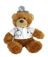 get well soon teddy get well soon doctor dressed teddy 20cm soft plush korimco