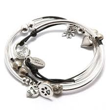 handmade silver charm bracelet images Mini lucky handmade leather wrap charm bracelet lizzy james png