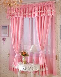 Ruffled Pink Curtains Fashion Curtain Pink Rustic Bedroom Curtain White Princess Ruffle