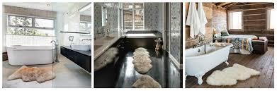 Rug For Bathroom Floor Sheepskin In The Bathroom Sheepskin Town