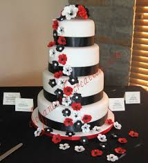 black white and red wedding cake white chocolate fondant u2026 flickr