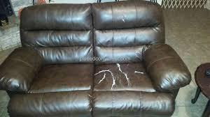 Leather Reclining Sofa Loveseat Furniture Durablend Bonded Leather Reclining Sofa