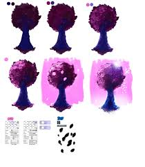 easy tutorial pink tree by ryky on deviantart