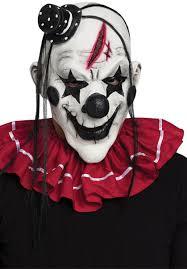 white halloween mask scary horror killer clown mask black white fancy dress escapade uk