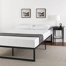 zinus 14 inch quick lock smart platform bed frame mattress