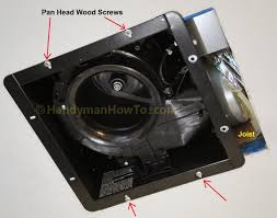 how to replace a bathroom exhaust fan and ductwork trim moulding