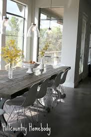 hill country dining room rustic modern dining room white modern chairs farmhouse table hill