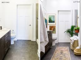 Before After Bathroom Makeovers - before and after a minimal modern bathroom makeover for spring