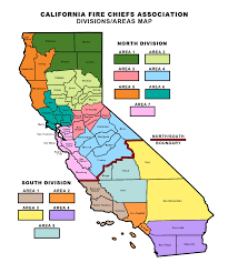 Cal Map Divisions And Area Map California Fire Chiefs Association