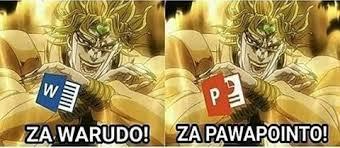 Dio Meme - my jojo memes this time it s dio