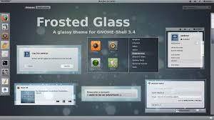 ubuntu glass wallpapers install frosted glass gnome shell theme on ubuntu linux mint