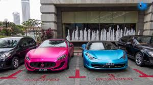 blue maserati pink maserati and blue ferrari 3m satin wrap youtube