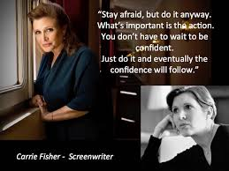 Carrie Meme - screenwriting 101 carrie fisher go into the story