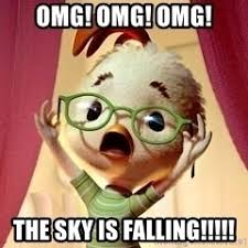 Omg Memes - omg omg omg the sky is falling chicken little meme generator