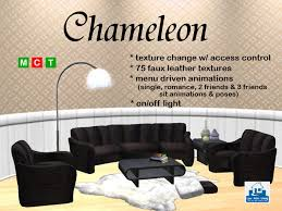 Faux Leather Living Room Furniture by Second Life Marketplace Chameleon Living Room Furniture 75