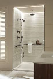Bathroom Shower Wall Ideas Bathroom Shower Wall Material Design With Window Blind And Glass