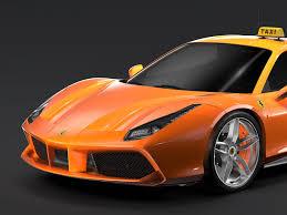 Ferrari 458 Models - ferrari gtb 488 taxi 2016 3d model in sport cars 3dexport