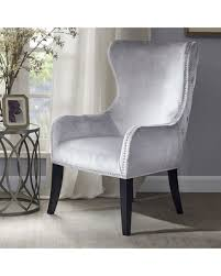 High Back Accent Chair Amazing Deal On Park Tufted High Back Accent Chair Silver