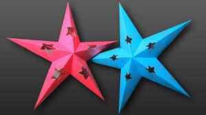 tutorial estrella decorativa con luz en 3d origami pinterest