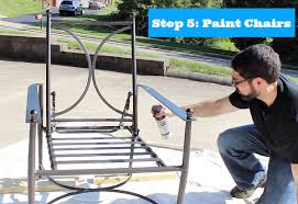 How Many Cans Of Spray Paint To Paint A Car - painting metal patio chairs 5 easy steps to an awesome makeover