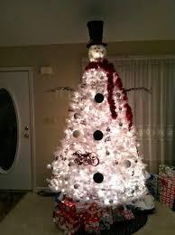 snowman christmas tree diy white christmas tree snowman diy craft projects